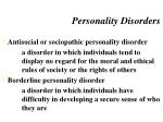 personality disorders1