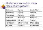 muslim women work in many different occupations