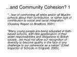 and community cohesion 1