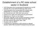 establishment of a rc state school sector in scotland