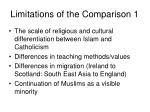 limitations of the comparison 1