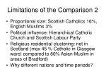 limitations of the comparison 2