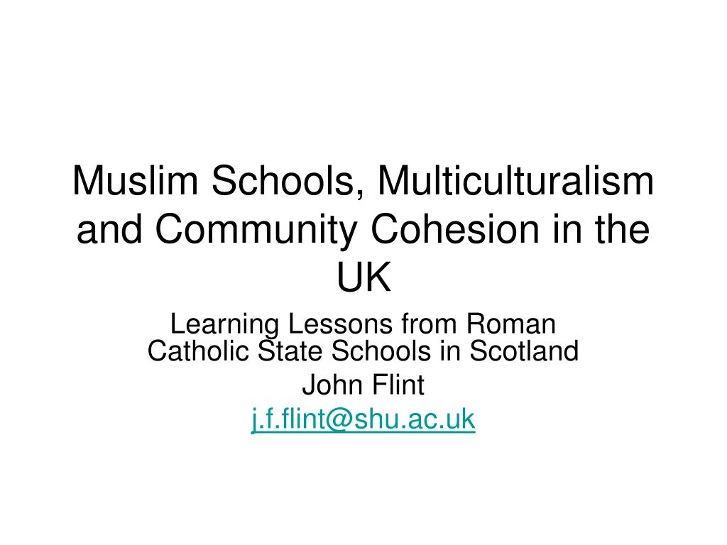 muslim schools multiculturalism and community cohesion in the uk l.