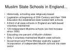muslim state schools in england