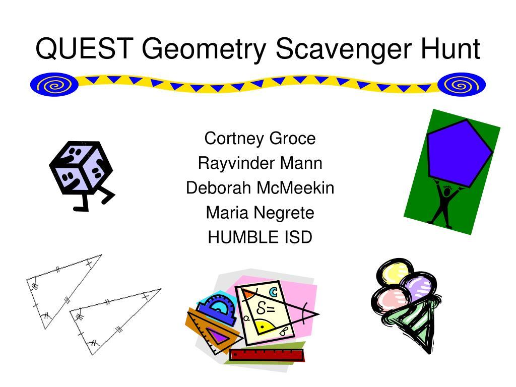 quest geometry scavenger hunt l.