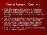 central research questions