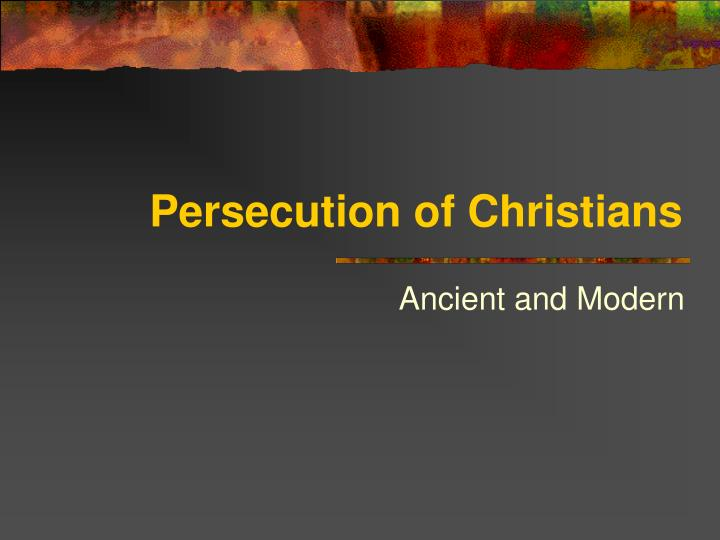 persecution of christians n.