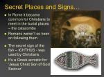 secret places and signs