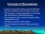 concept of boundaries