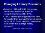 changing literacy demands