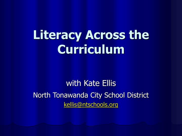 literacy across the curriculum n.