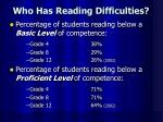 who has reading difficulties