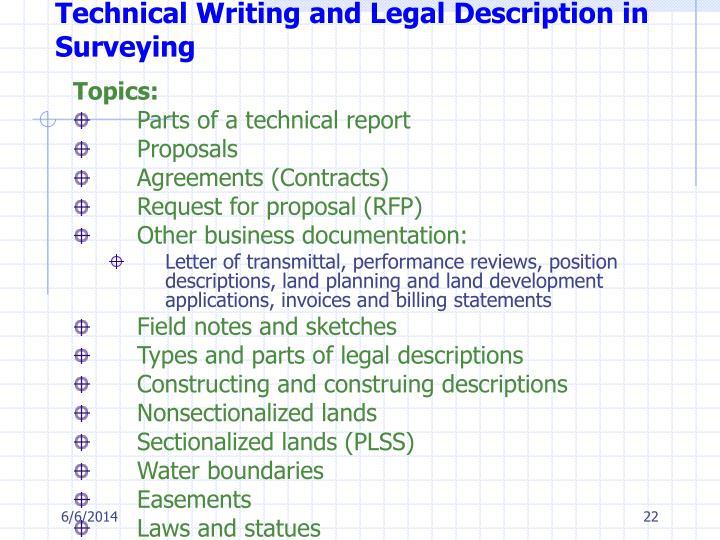 Technical writing service description description