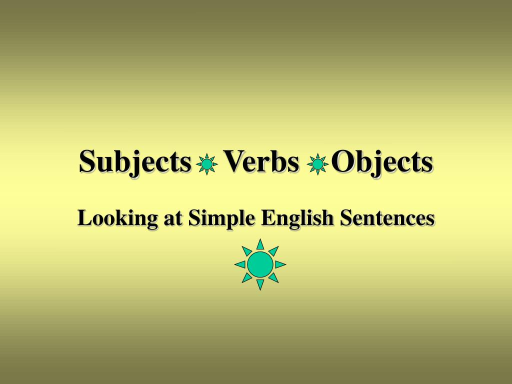 subjects verbs objects l.