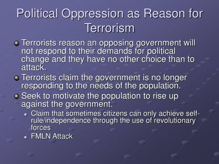 political oppression essays Oppression oppression i need help in identifying a current event or contemporary social issue that involves human freedom your issue must be broad enough to sustain.