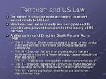 terrorism and us law
