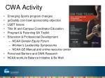 cwa activity