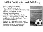 ncaa certification and self study