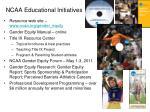 ncaa educational initiatives