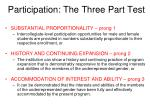 participation the three part test