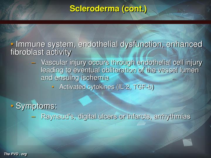 Scleroderma (cont.)