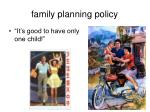 family planning policy1