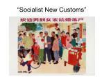 socialist new customs