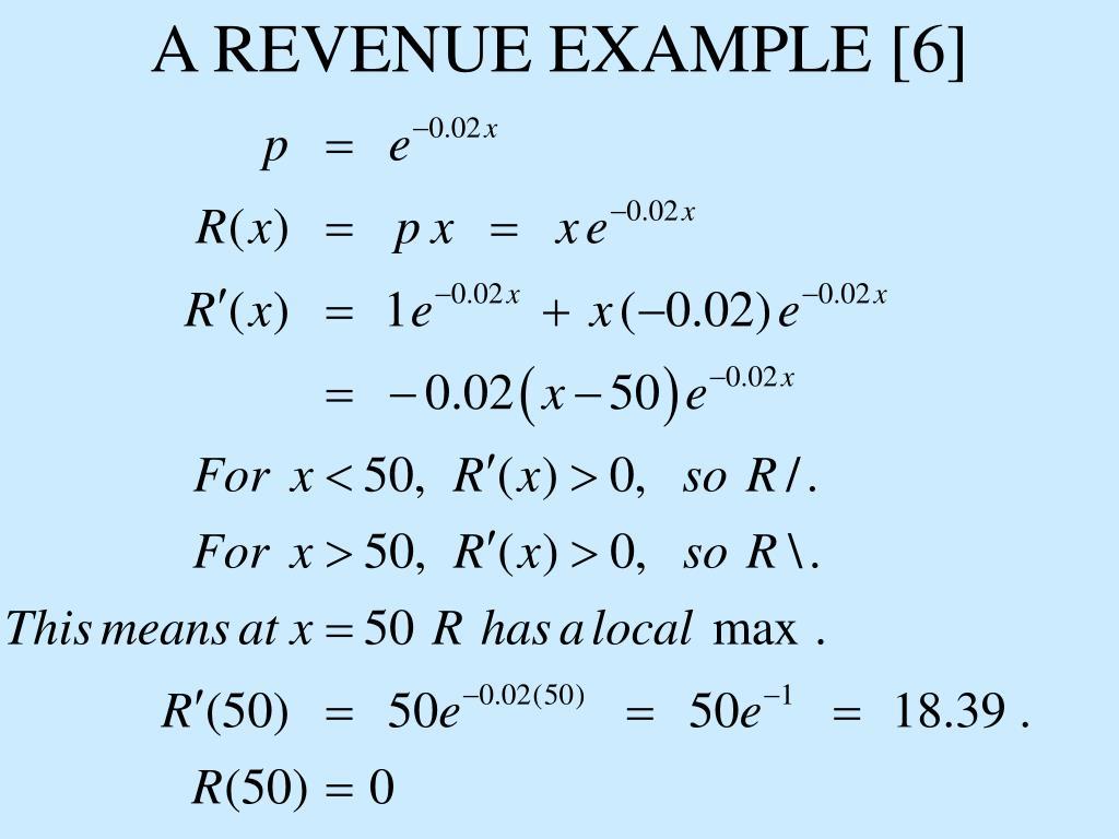A REVENUE EXAMPLE [6]