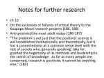 notes for further research1