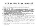 so then how do we research