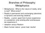 branches of philosophy metaphysics