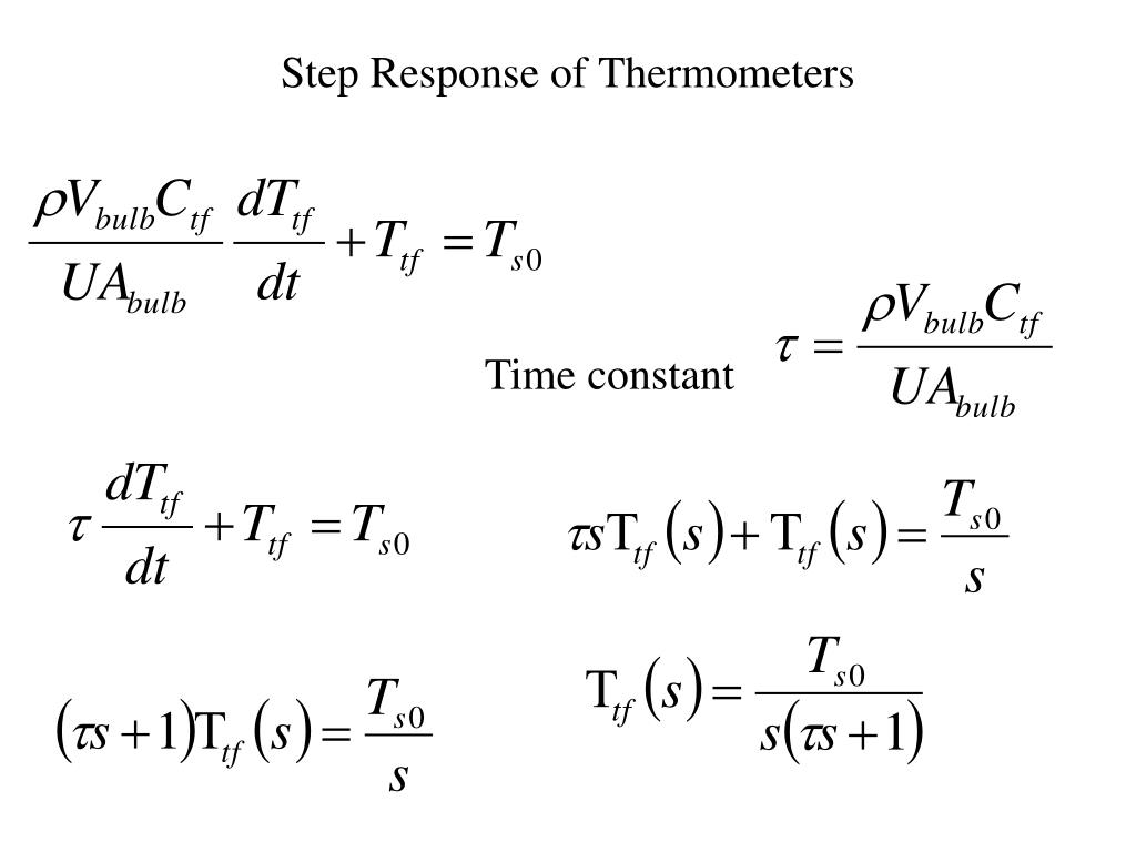 Step Response of Thermometers