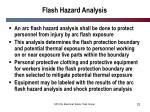 flash hazard analysis