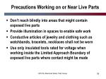 precautions working on or near live parts