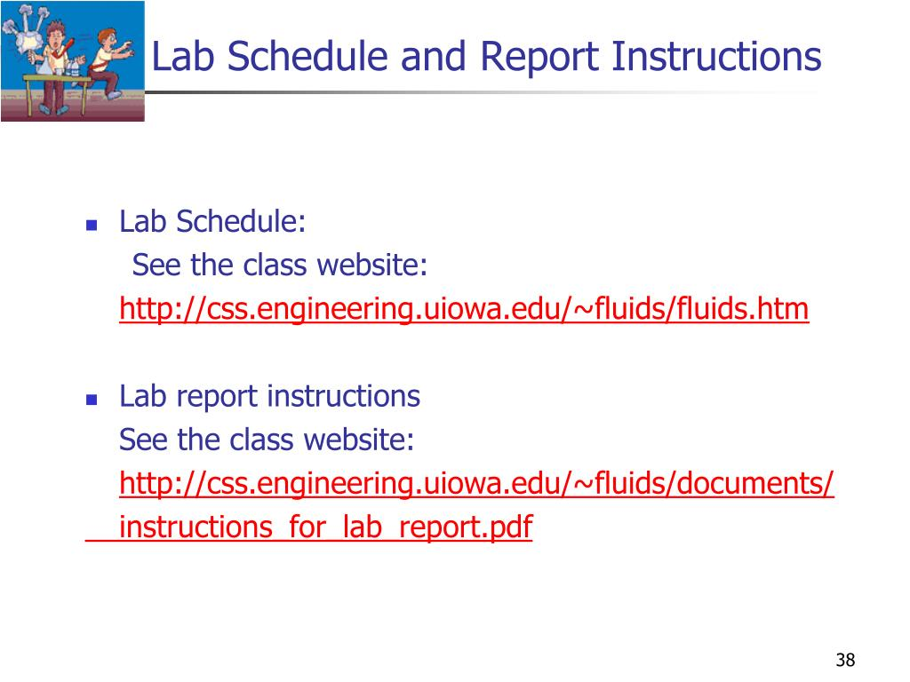 Lab Schedule and Report Instructions