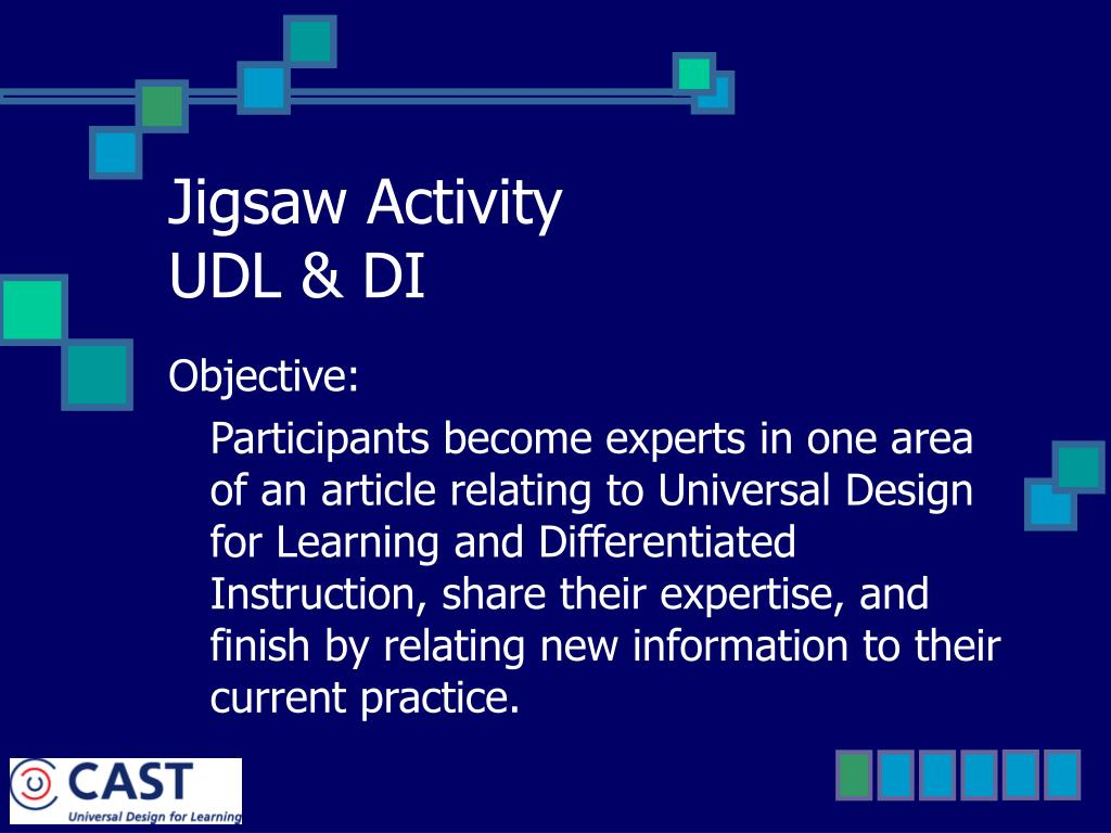 Ppt Jigsaw Activity Udl Di Powerpoint Presentation Free Download Id 1183312