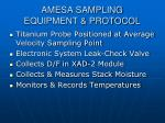 amesa sampling equipment protocol