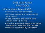 dms sampling protocol10