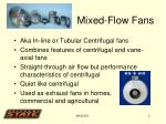 mixed flow fans
