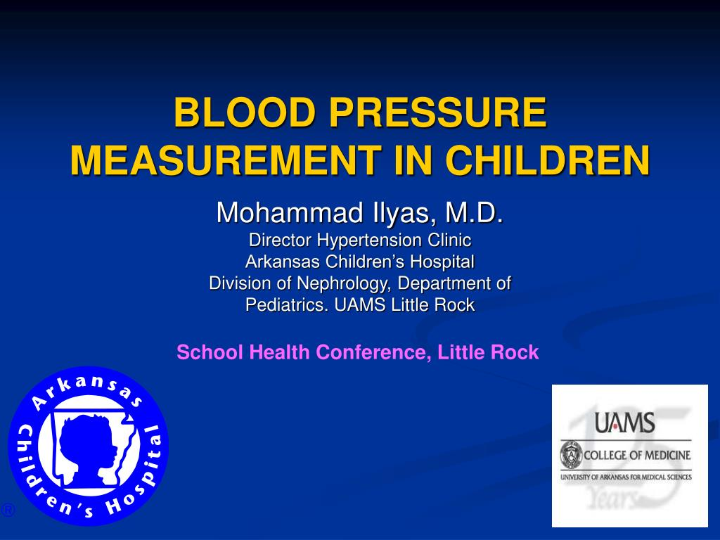blood pressure measurement in children l.