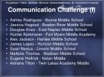 communication challenge i