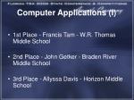 computer applications i1