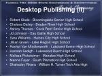 desktop publishing ii