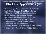 electrical applications i