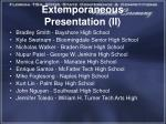 extemporaneous presentation ii