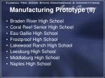 manufacturing prototype ii