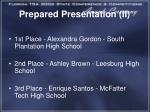 prepared presentation ii1