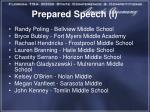 prepared speech i