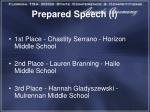 prepared speech i1