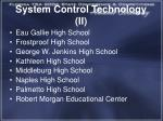 system control technology ii